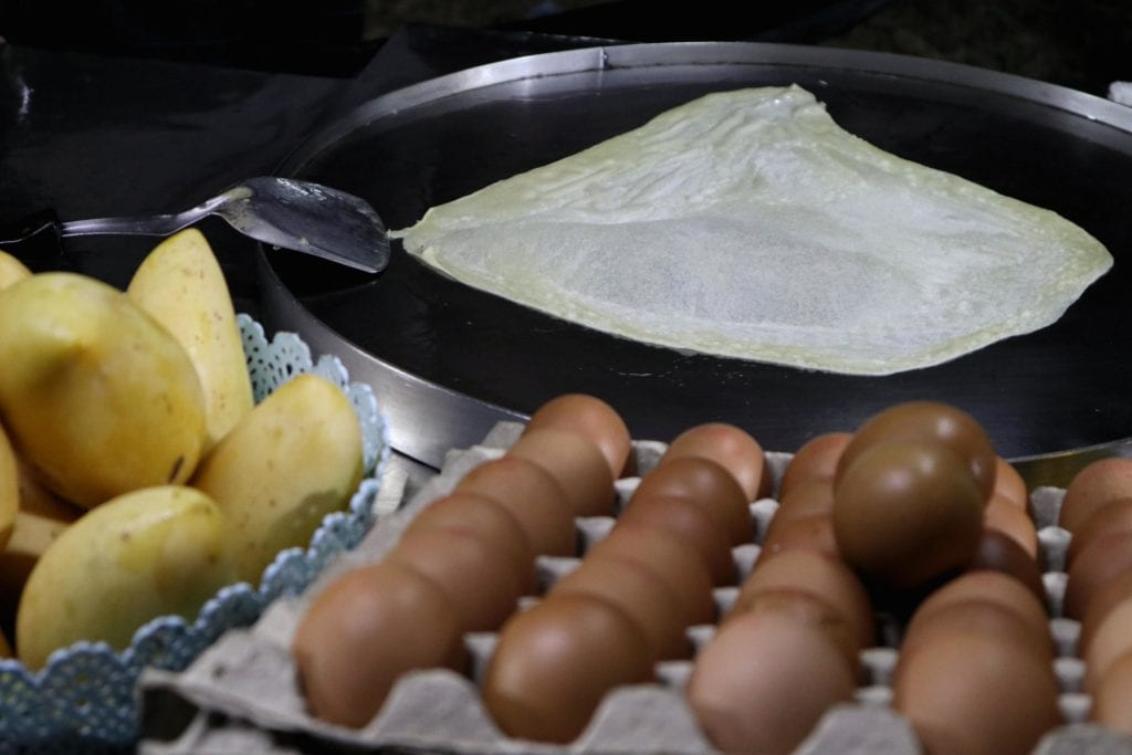 Zubereitung Thai Banana Pancake Thailand