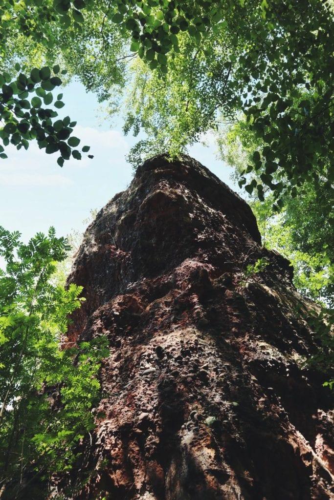 Bundsandstein auf der Rureifel-Wanderung