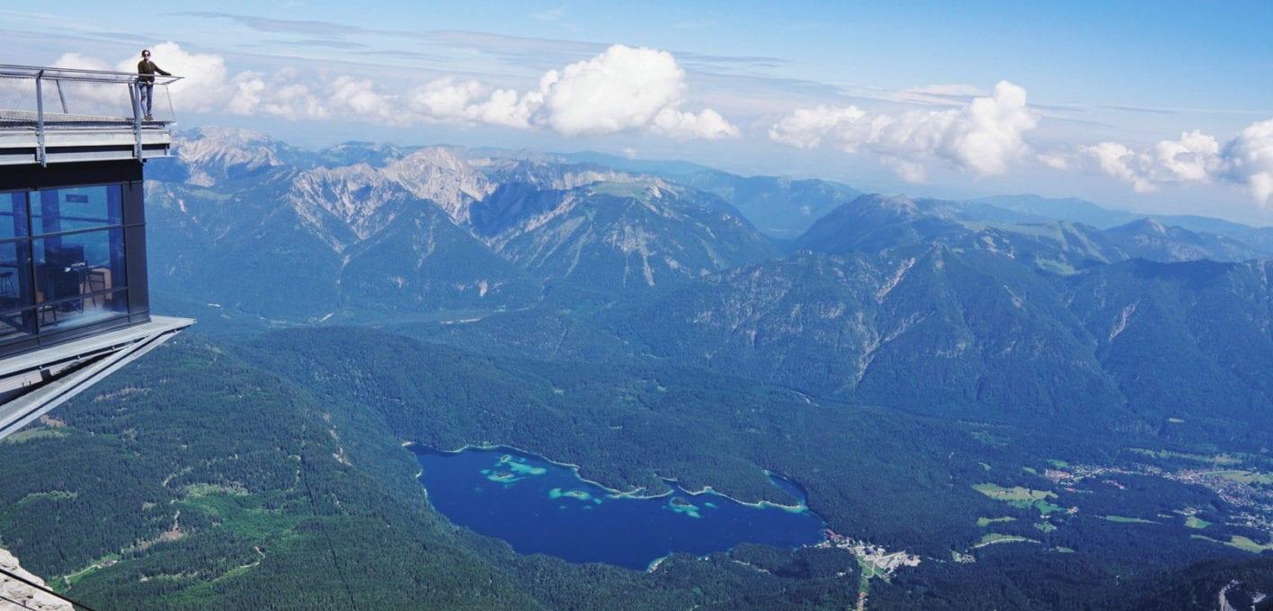 Eibsee von der Zugspitze aus