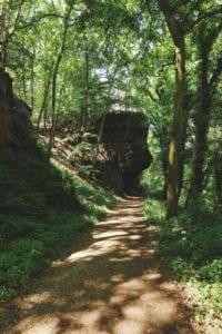 Hinkelsteine auf Rureifel-Wanderung