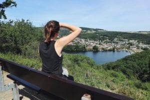 Rureifel-Wanderung_Blick auf Stausee Obermaubach