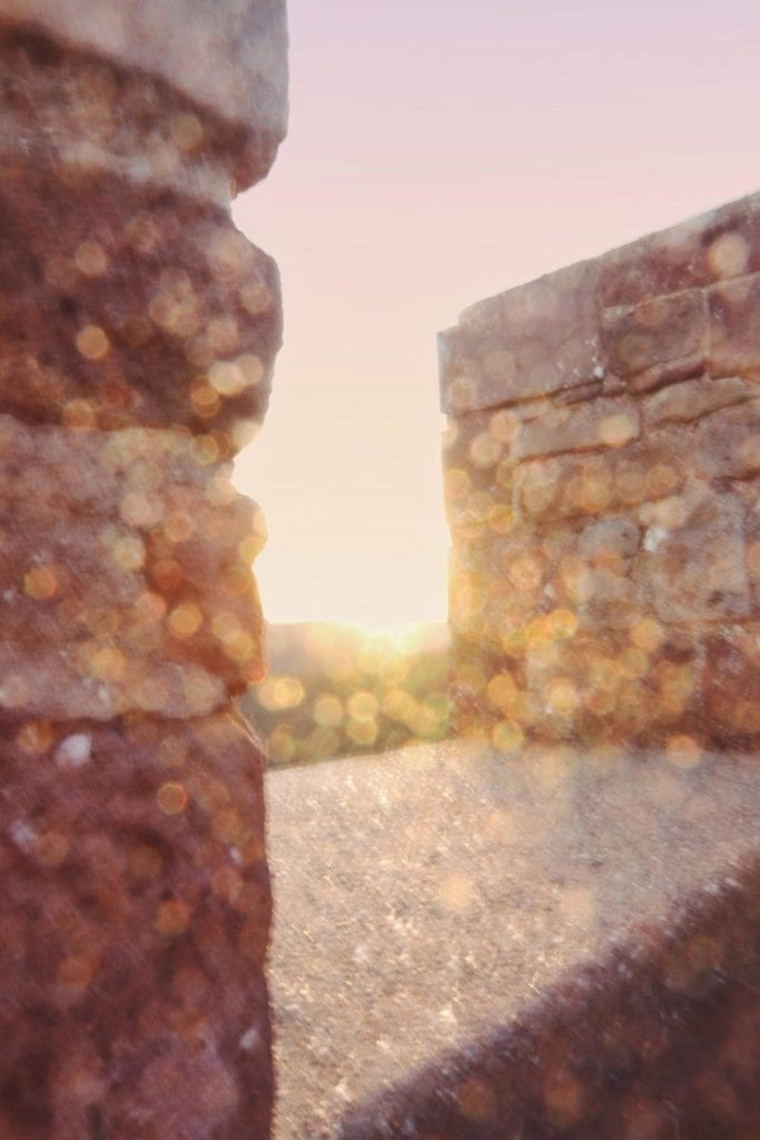 Sonnenuntergang Burg Nideggen Licht