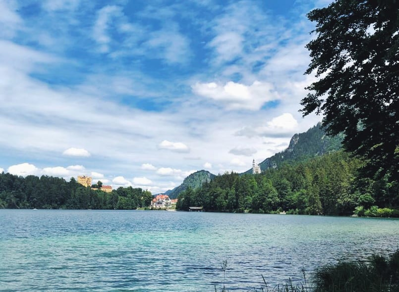 Alpsee mit Blick auf Schloss Neuschwanstein