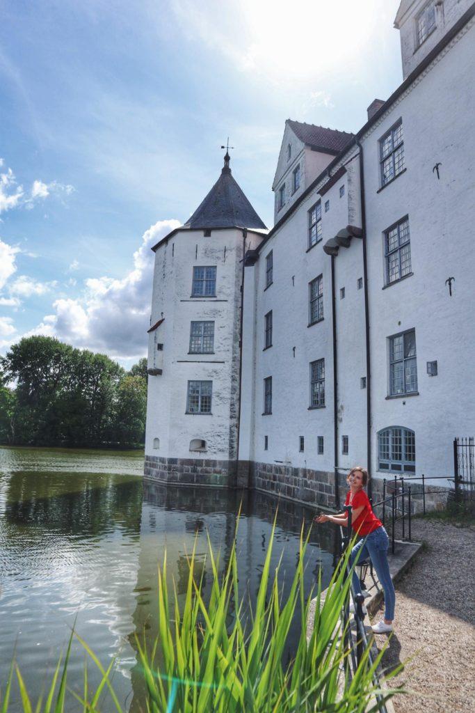 Besuch Schloss Glücksburg Travellerin Lisa am Turm