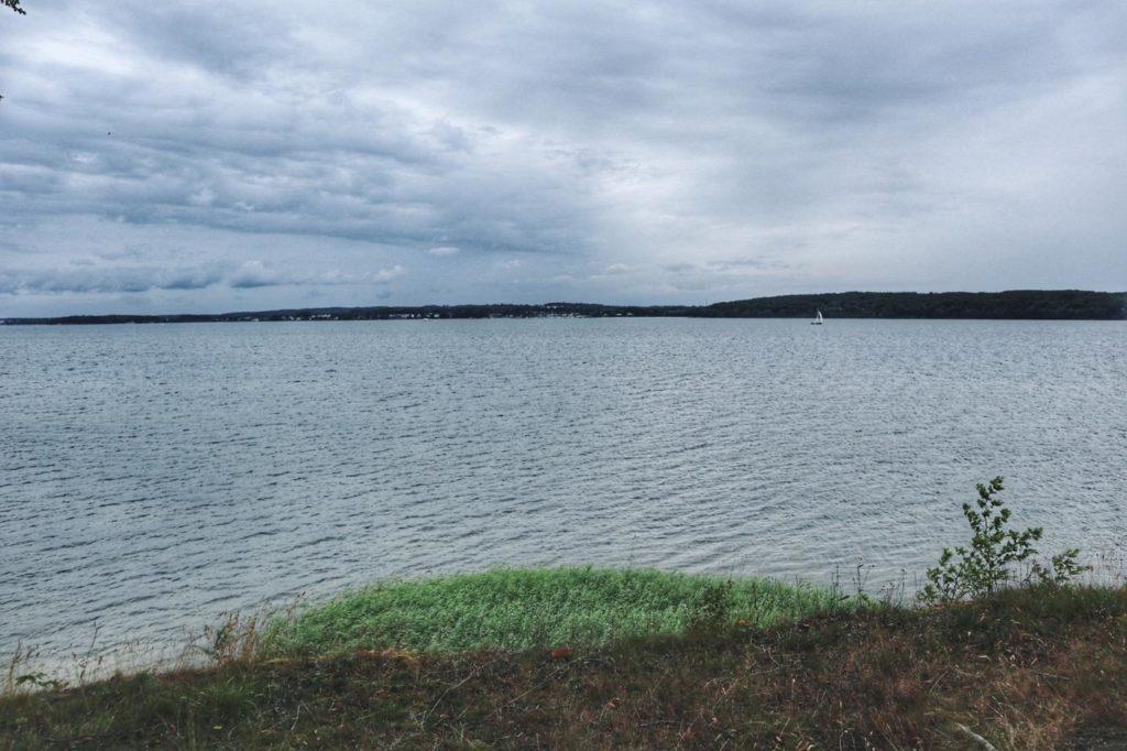 Blick auf Rügen von Insel Vilm aus
