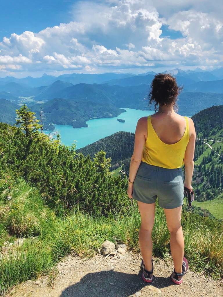 Blick auf Walchensee Bayern
