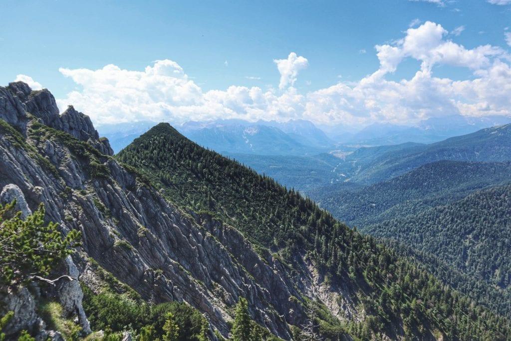 Blick auf die Berge Herzogstand