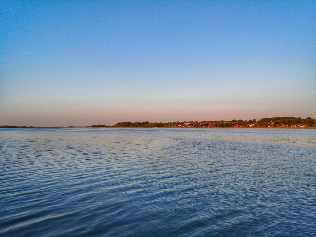 Blick auf die Schlei Sonnenuntergang Schleswig