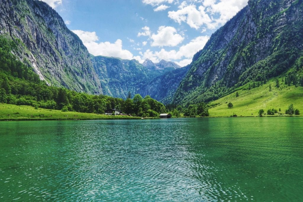 Bootsfahrt Königssee Richtung Obersee