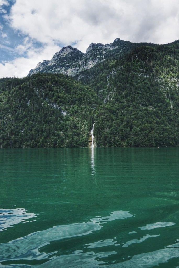 Bootsfahrt Königssee Wasserfall