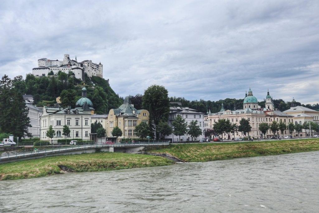 Festung Hohensalzburg und Salzburg Innenstadt