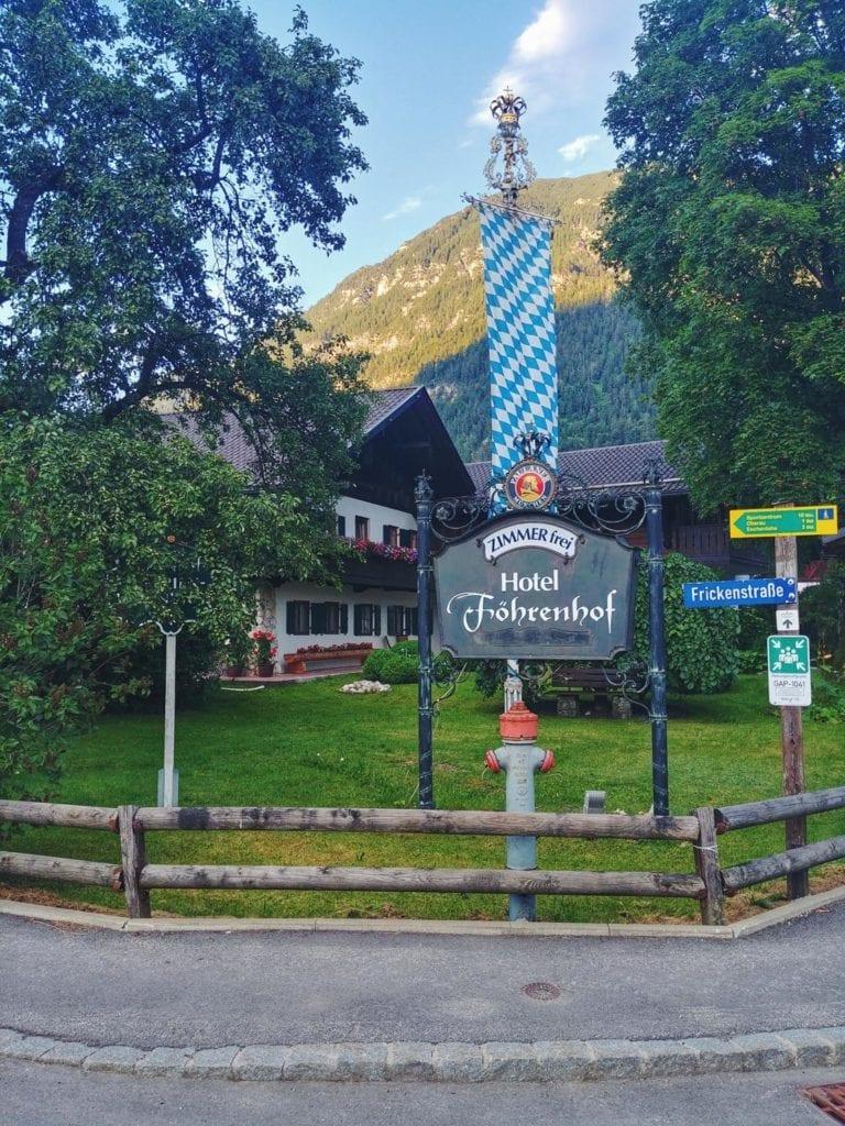 Hotel Föhrenhof in Farchant bei Garmisch Bayern