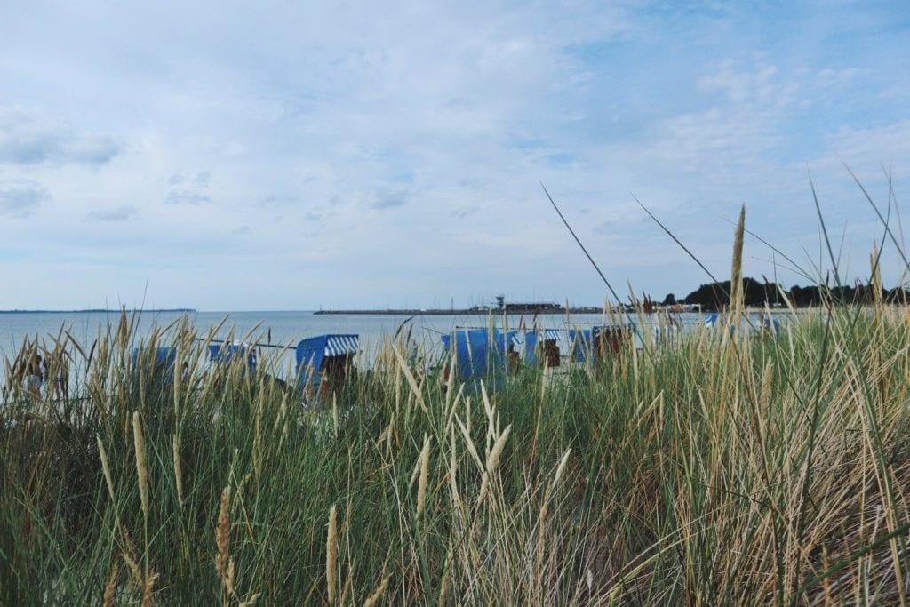 Strand Glowe mit Strandkorb
