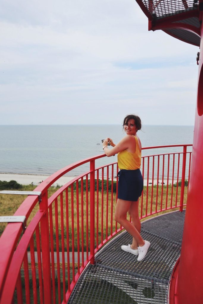 Travellerin Lisa auf Leuchttum Falshöft