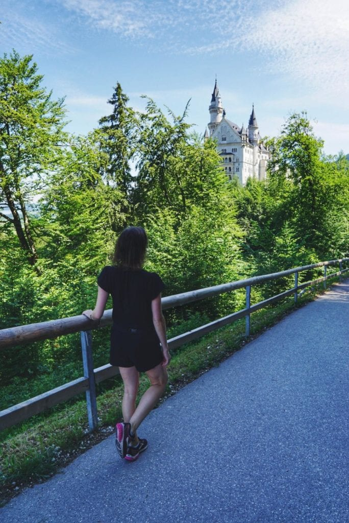 Weg zum Schloss Neuschwanstein