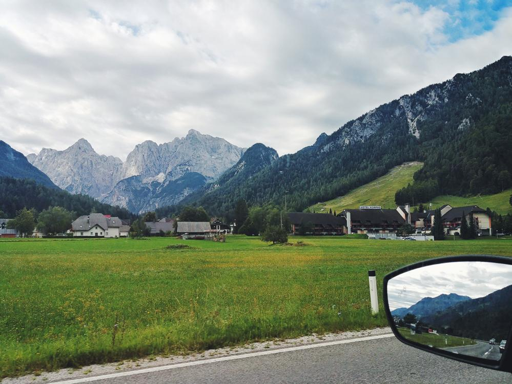 Julische Alpen bei Mojstrana in Slowenien
