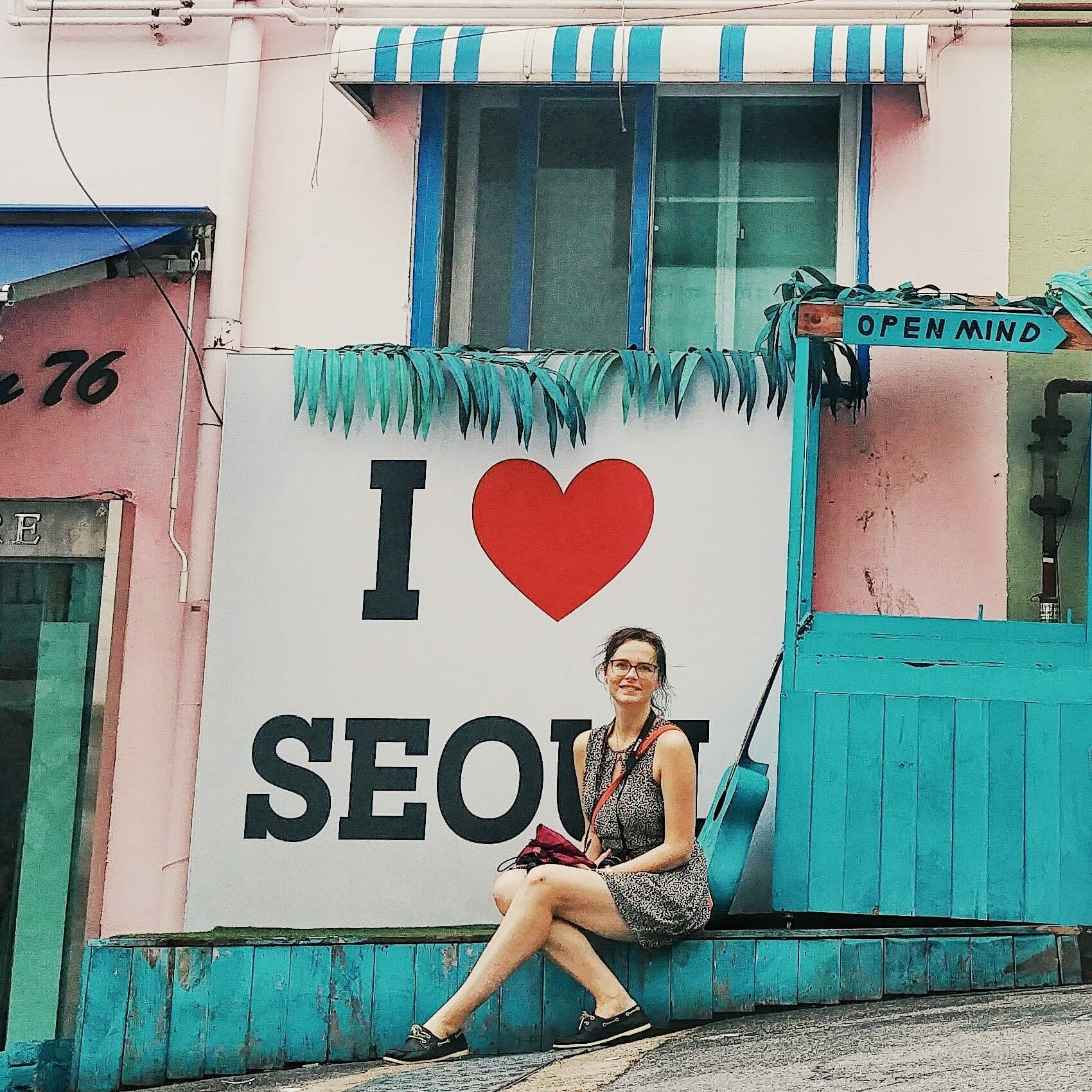 I love Seoul Schild im Ihwa Mural Village