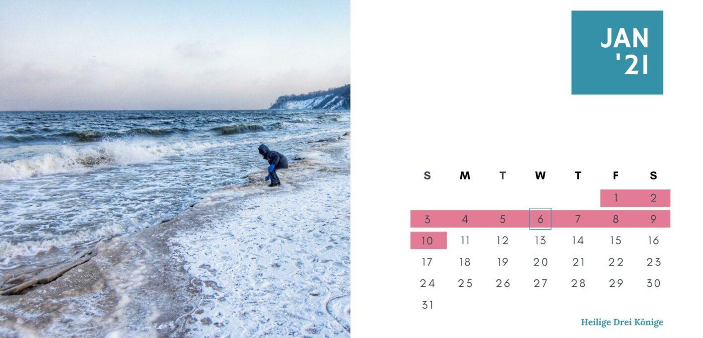 Brückentage 2021 Kalender_Januar