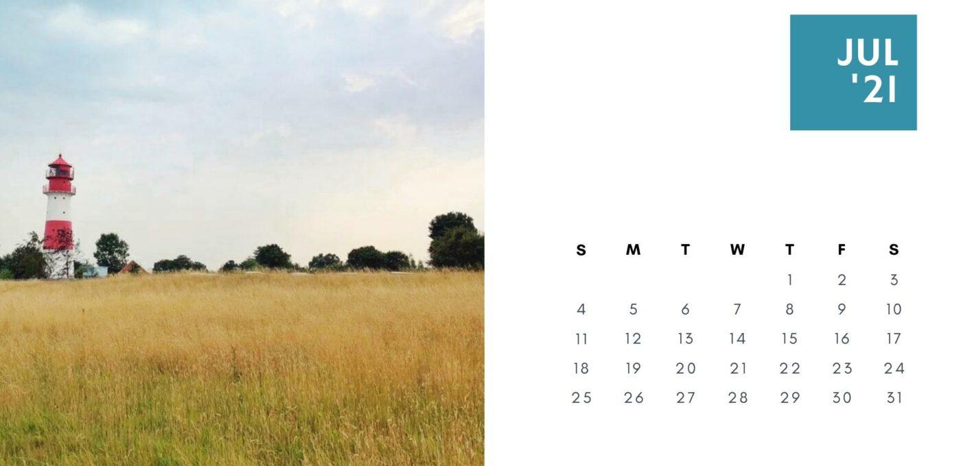 Brückentage 2021 Kalender_Juli