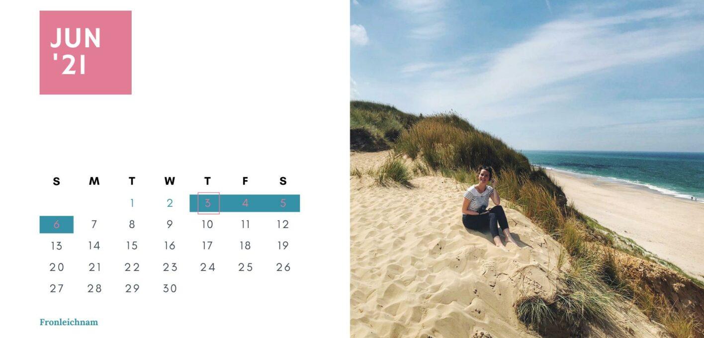 Brückentage 2021 Kalender_Juni