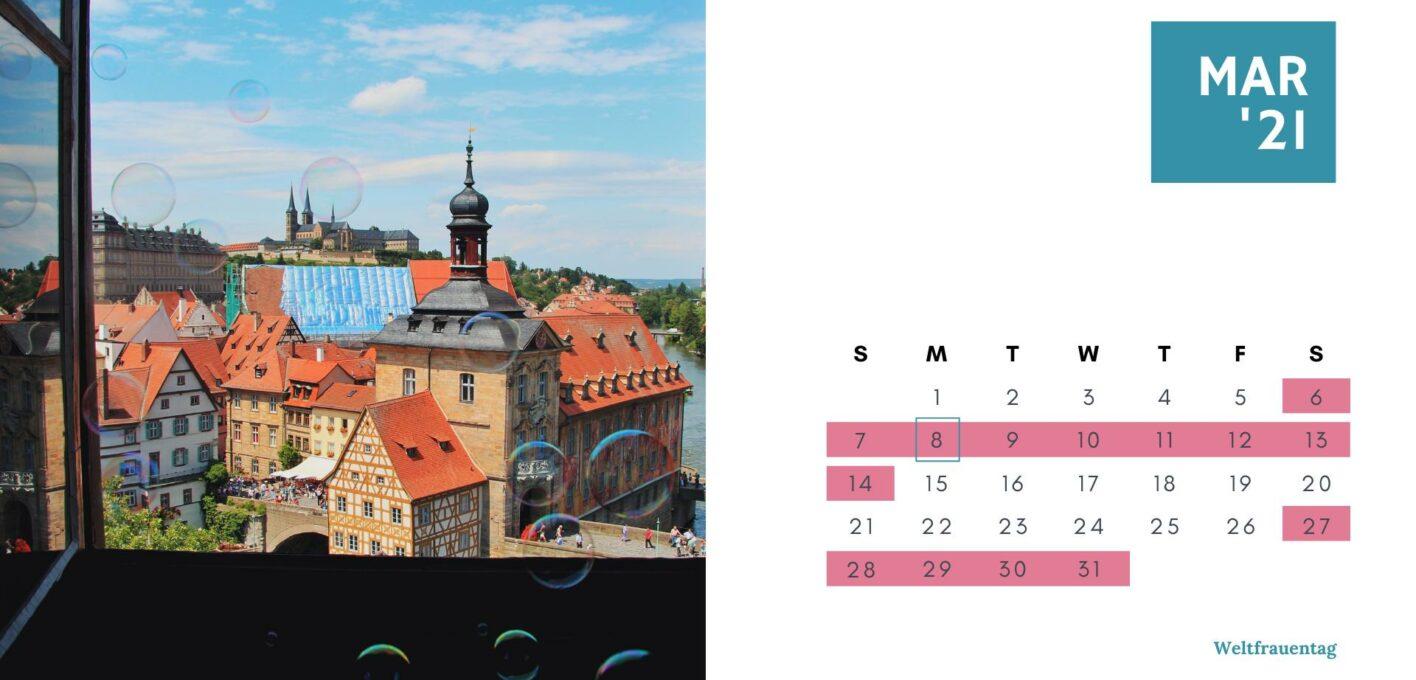 Brückentage 2021 Kalender_März