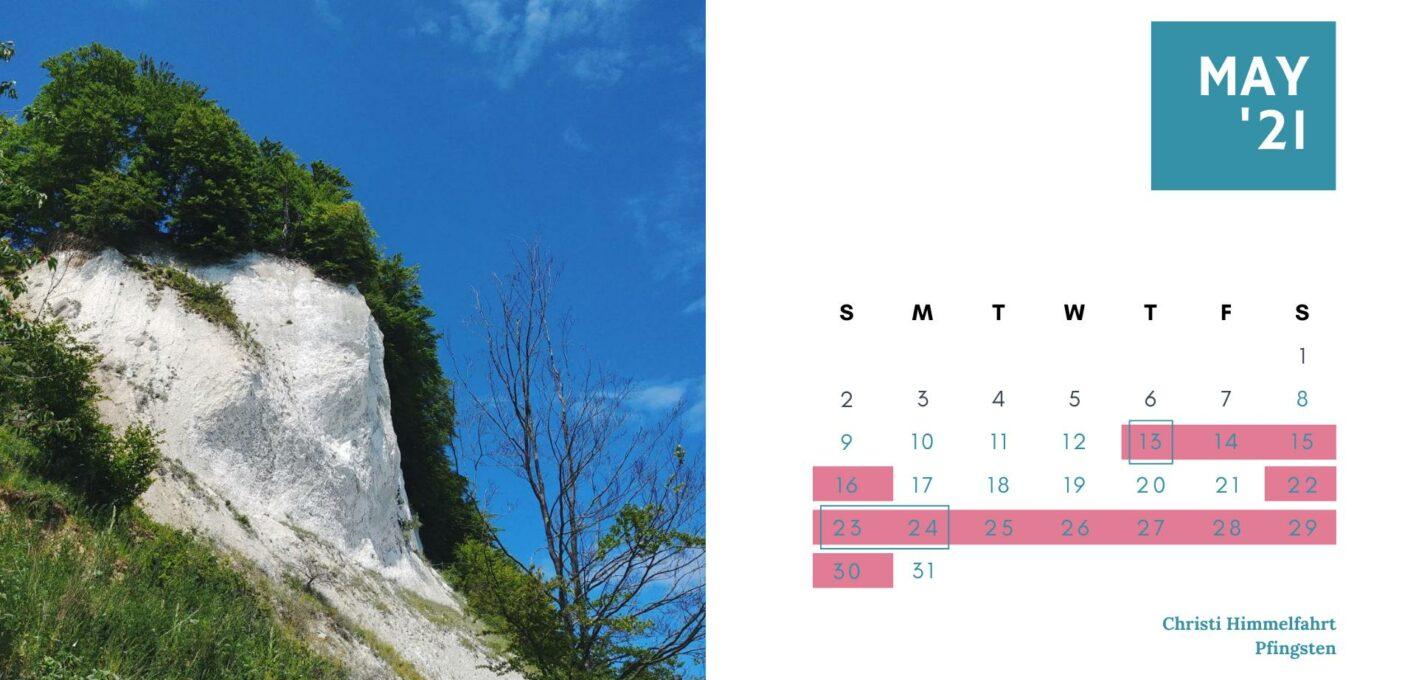 Brückentage 2021 Kalender_Mai