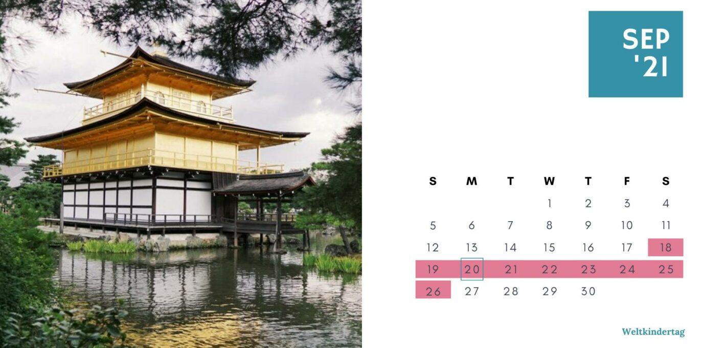 Brückentage 2021 Kalender_September