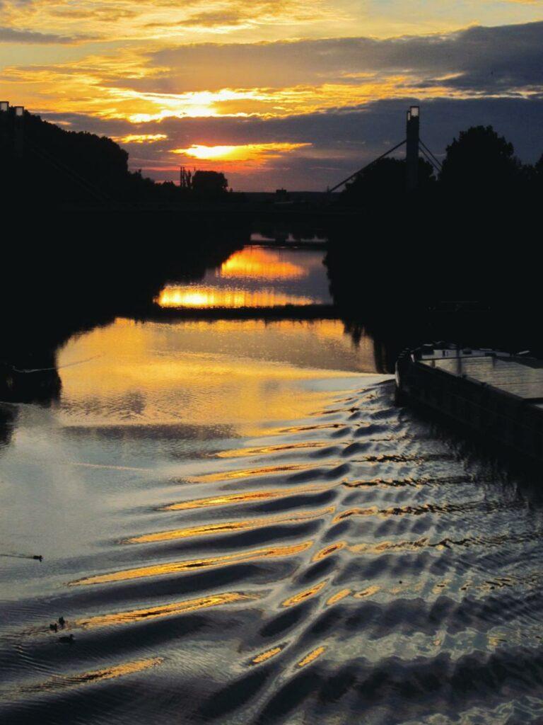 Bamberg Reisetipps_Sonnenuntergang an der Kettenbrücke