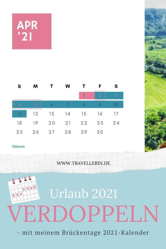 Brückentage 2021 Kalender Urlaub 2021 planen