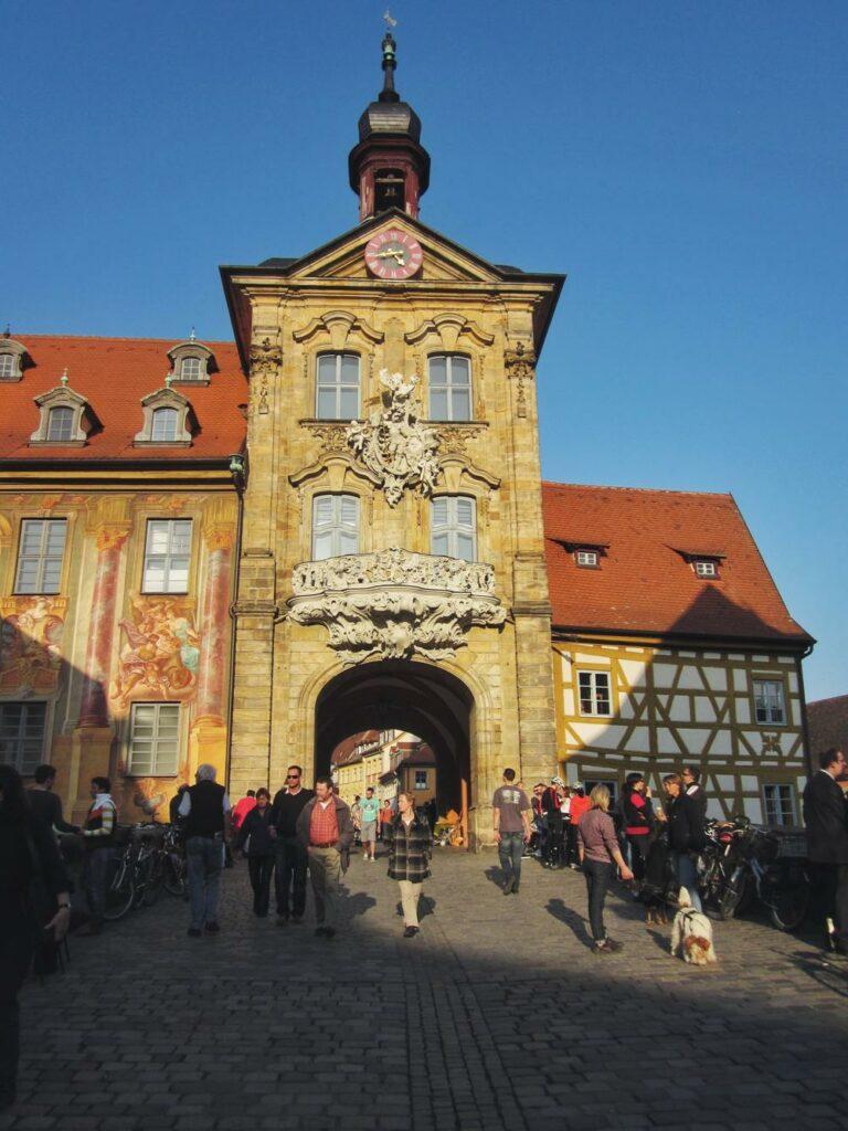 Kurzurlaub Bamberg_Altes Rathaus von Oberer Brücke