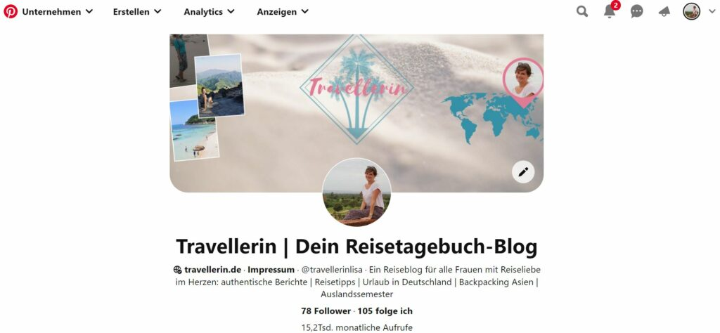 Pinterestprofil Travellerin