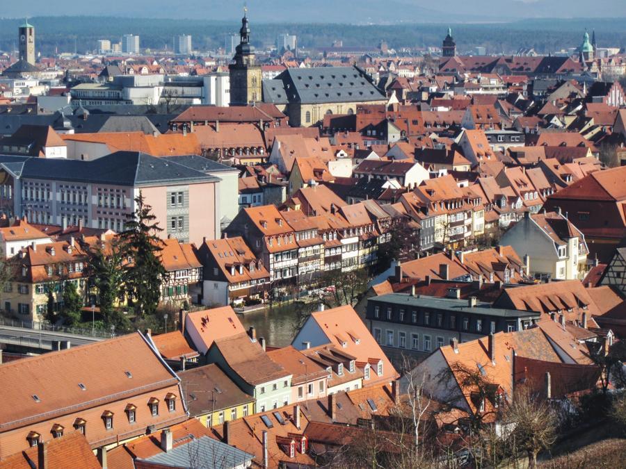 Bamberg Sehenswürdigkeiten_Klein Venedig von oben