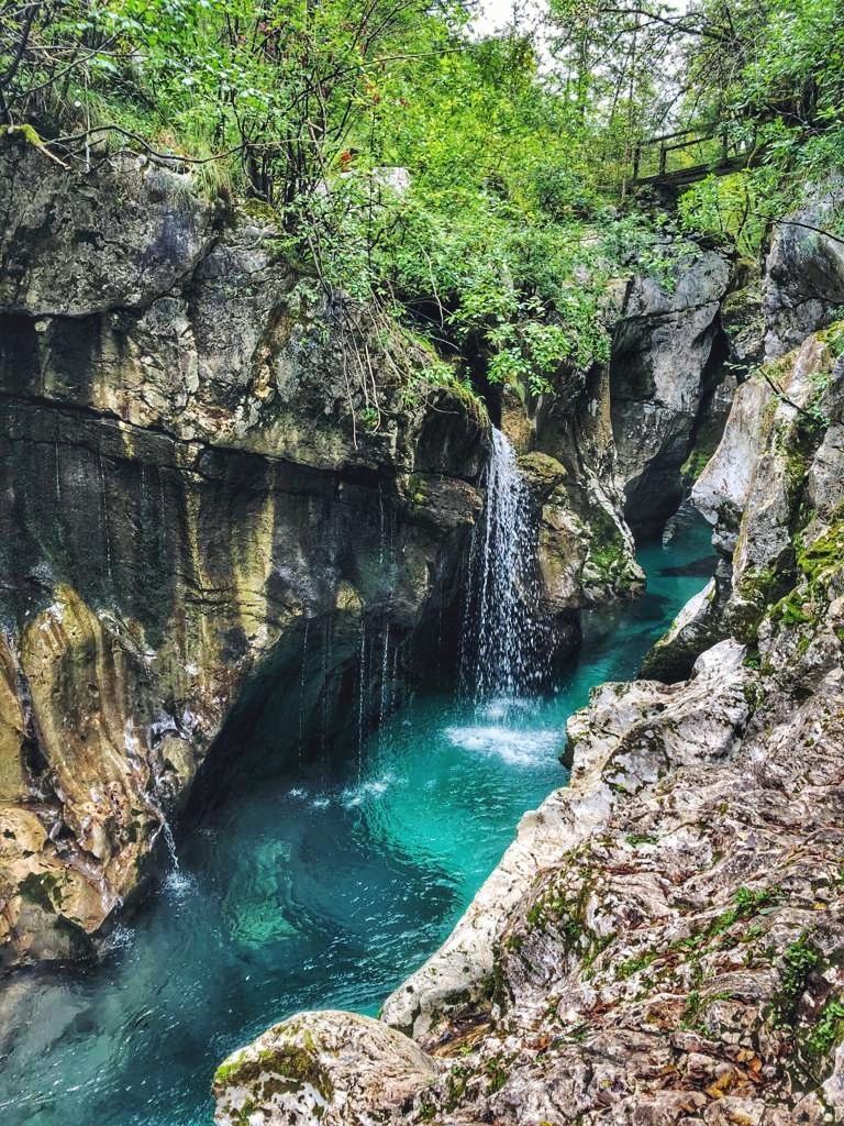 Wandern in Slowenien_Šunik Wasserhain_Wasserfall