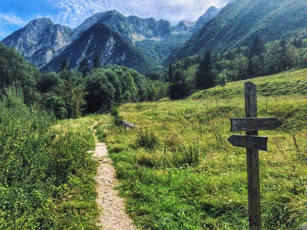 Wandern in Slowenien_Weg zum Šunik Wasserhain