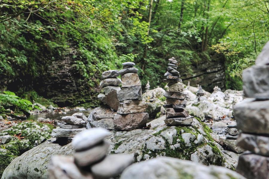 Slowenien Sehenswürdigkeiten_Kobarid Weg zum Wasserfall
