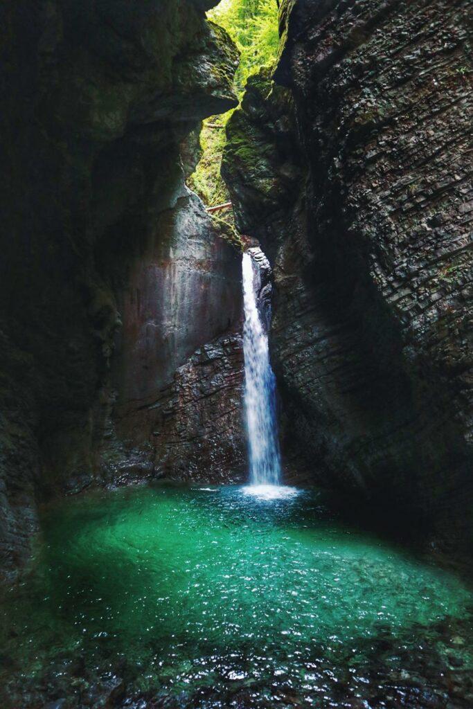 Slowenien Sehenswürdigkeiten_Veliki Kozjak Wasserfall